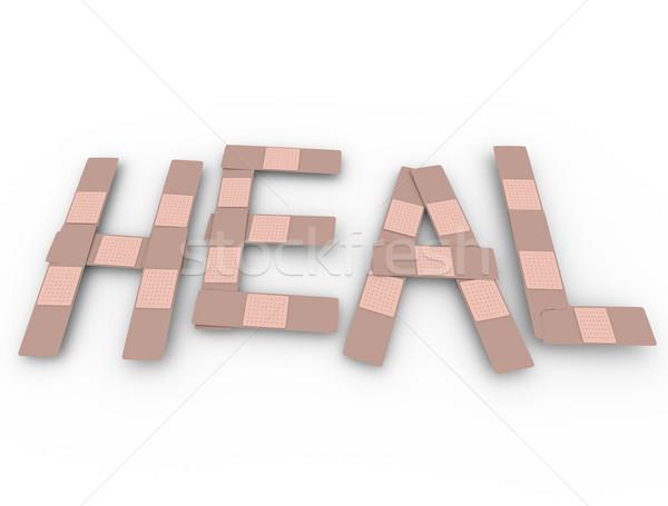 Heal Word Bandage Words Treat Injury Stock photo © iqoncept