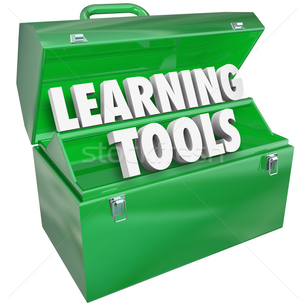 Learning Tools Words Toolbox School Education Teaching Student Stock photo © iqoncept