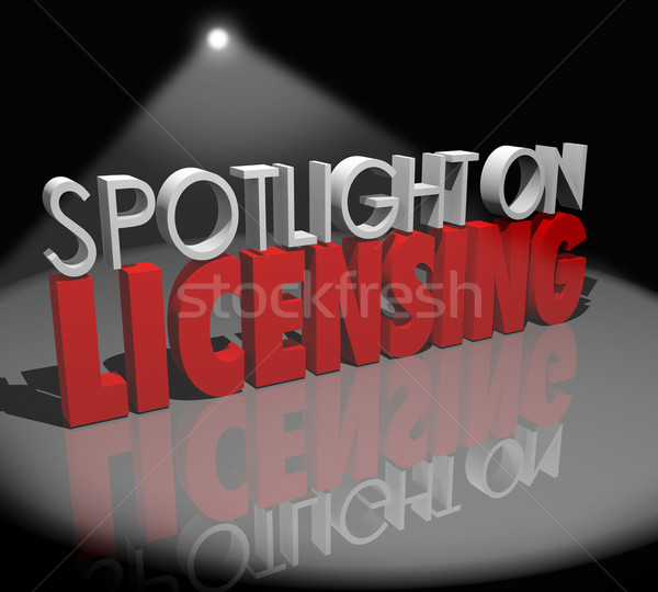Spotlight on Licensing Words Information Advice Official License Stock photo © iqoncept