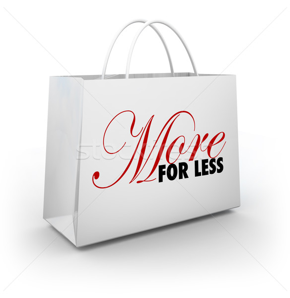 More for Less Shopping Bag Store Sale Discount Deal Savings Stock photo © iqoncept