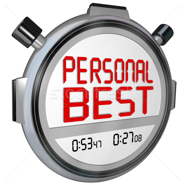 Personal Best Stopwatch Timer Race Record Speed Win Game Stock photo © iqoncept