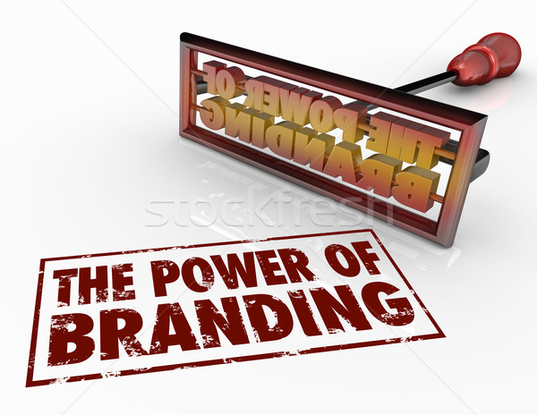 Power of Branding Iron Words Marketing Identity Trust Stock photo © iqoncept