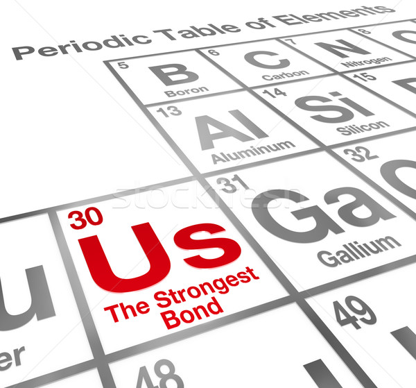 Us Strongest Bond Periodic Table Elements Partnership Teamwork Stock photo © iqoncept