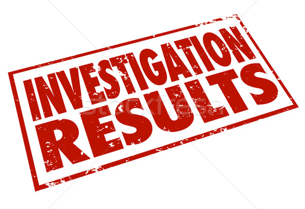 Invetigation Results Red Stamp Words Resarch Findings Stock photo © iqoncept