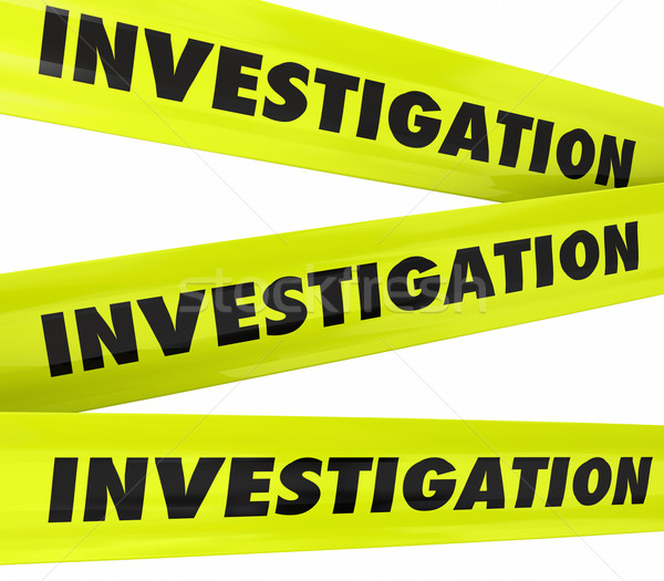 Investigation Word Yellow Crime Scene Police Tape  Stock photo © iqoncept