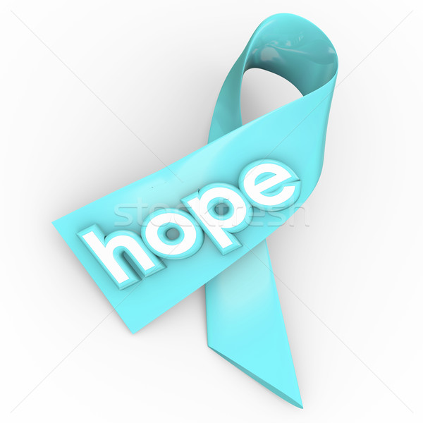 Hope Word Ribbon Cancer Disease Awareness Fund Raiser Stock photo © iqoncept
