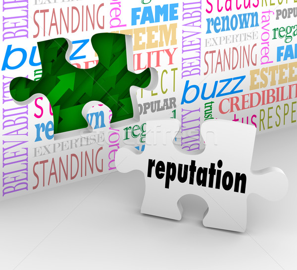 Reputation Wall Trusted Honorable Referral Words Stock photo © iqoncept