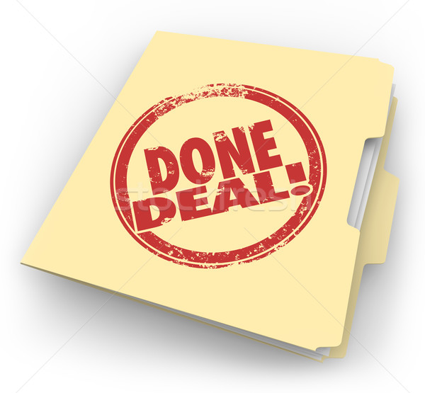 Done Deal Manila Folder Official Contract Signed Sale Closed Stock photo © iqoncept