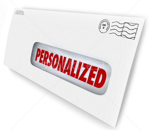 Personalized Envelope Mailed Message Special Unique Communicatio Stock photo © iqoncept