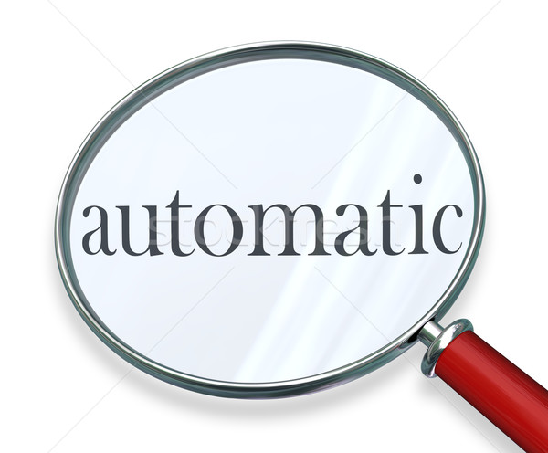 Automatic Word Magnifying Glass Program Software System Stock photo © iqoncept