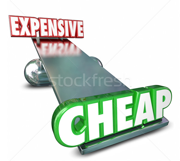 Cheap Vs Expensive See Saw Balance Comparing Prices Costs Stock photo © iqoncept