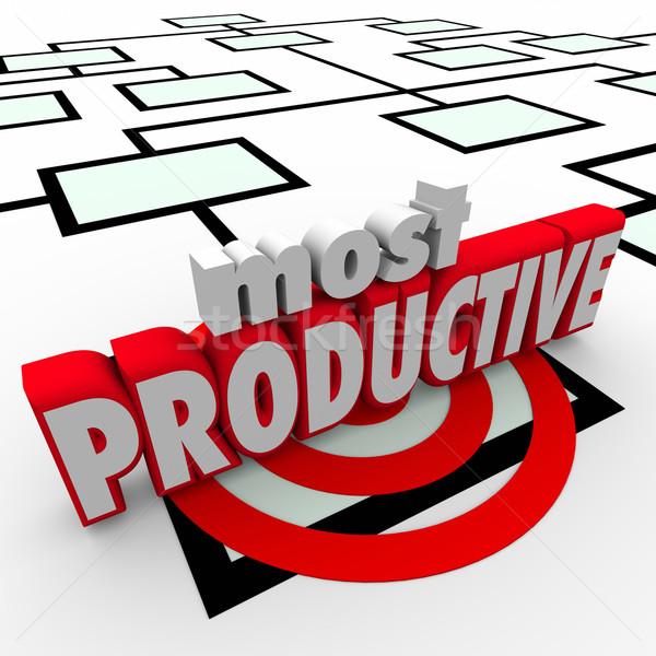 Produktywny pracownika organizacja wykres działalności firmy Zdjęcia stock © iqoncept