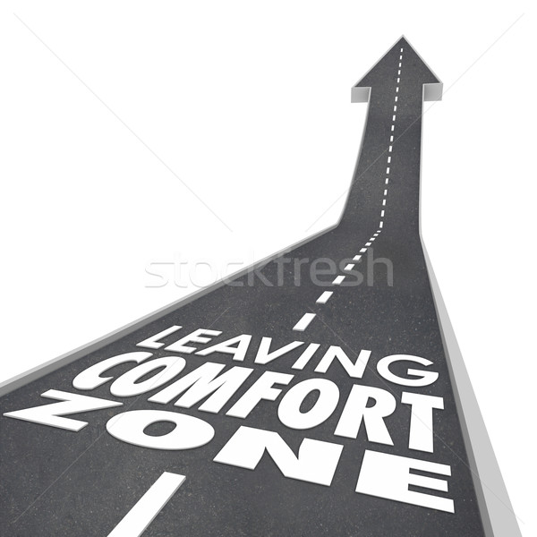 Leaving Comfort Zone Words Road Grow Increase New Experience Stock photo © iqoncept