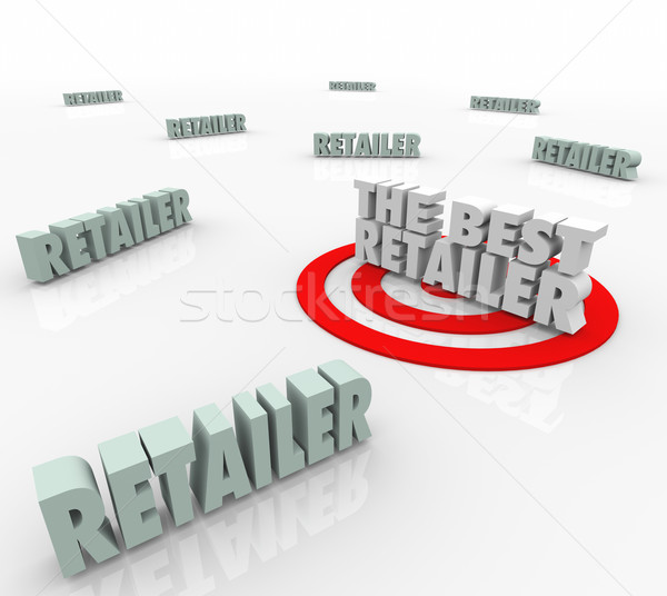 The Best Retailer Seller Products Targeted Word Store Outlet Stock photo © iqoncept