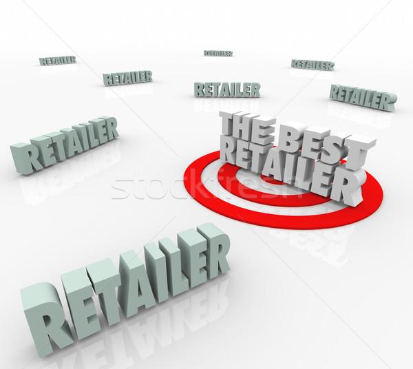 Legjobb eladó termékek megcélzott szó bolt Stock fotó © iqoncept