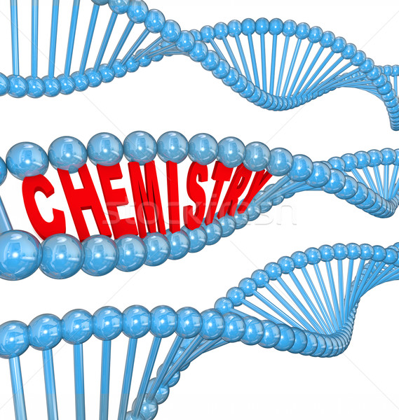 Chemistry DNA Strand Atom Molecule Particle Chemical Research Stock photo © iqoncept