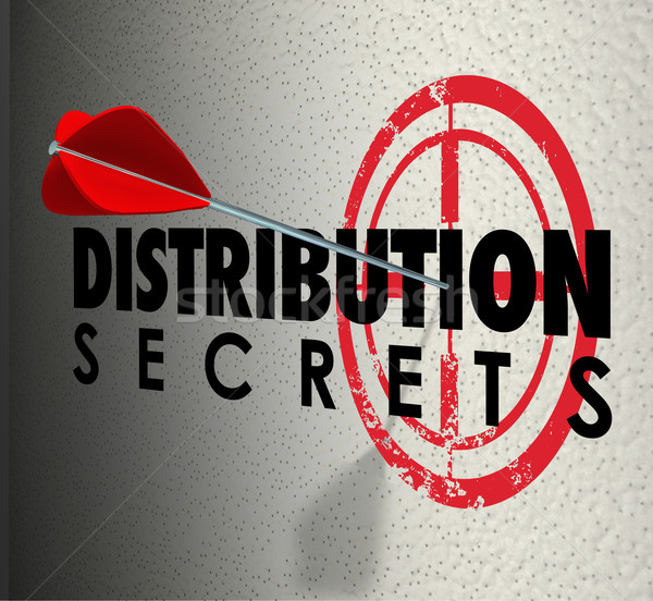 Distribution Secrets Arrows Target Ideas Sharing Advice Stock photo © iqoncept
