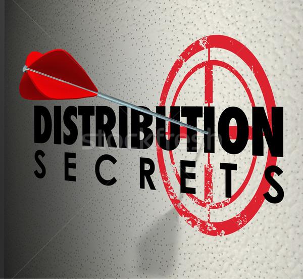 Distribution secrets cible idées Photo stock © iqoncept