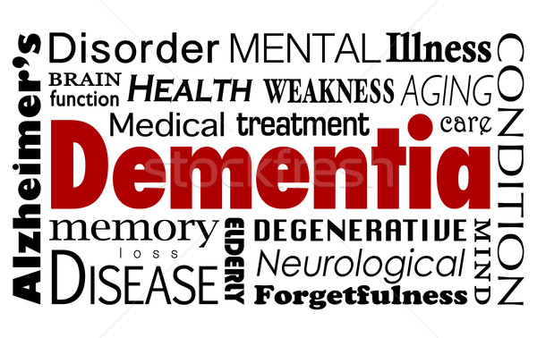 Dementia Word Collage Mental Illness Alzheimer's Disease Conditi Stock photo © iqoncept