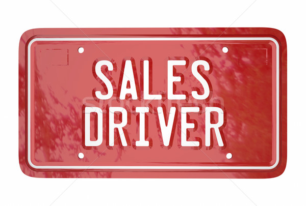 Sales Driver Top Seller Car Vehicle License Plate Words 3d Stock photo © iqoncept