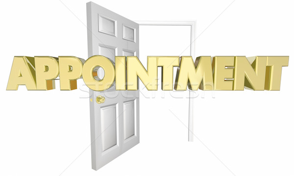 Appointment Meeting Opening Door Word 3d Illustration Stock photo © iqoncept