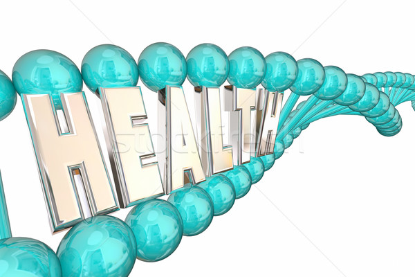 Health DNA Word Letters Bio Medica Research 3d Illustration Stock photo © iqoncept