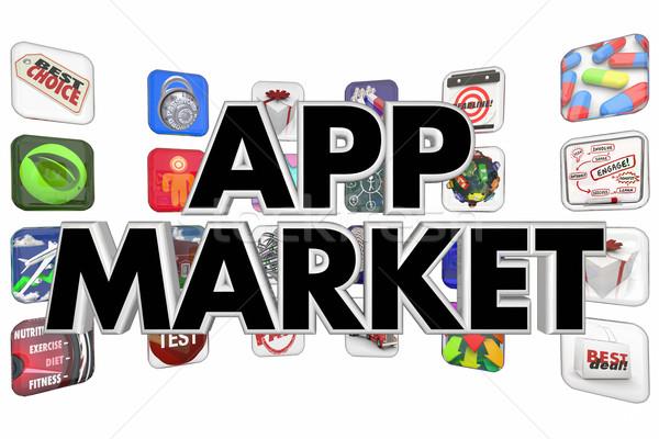 アプリ 市場 購入 販売 ダウンロード 新しい ストックフォト © iqoncept