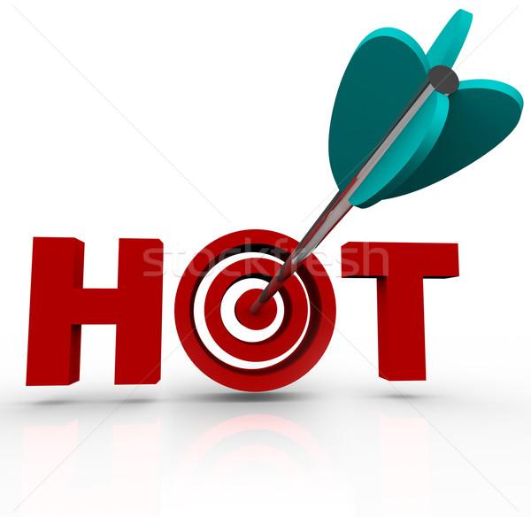 целевой горячей стрелка слово способность Сток-фото © iqoncept