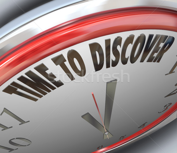 Time to Discover Words on Clock Scientific Research Stock photo © iqoncept