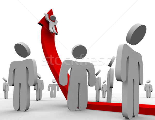 Riding Up the Growth Arrow - Crowd Stock photo © iqoncept