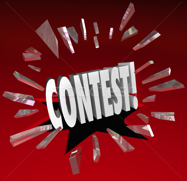 Contest 3D Word Grand Prize Drawing Announcement News Stock photo © iqoncept