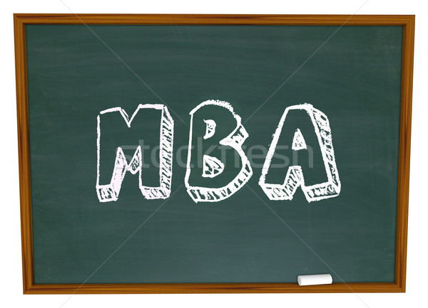 MBA Masters Business Administration College Degree Chalk Board Stock photo © iqoncept