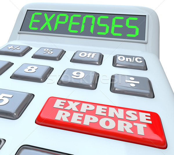 Expense Report Calcualtor Adding Receipts Business Costs Stock photo © iqoncept