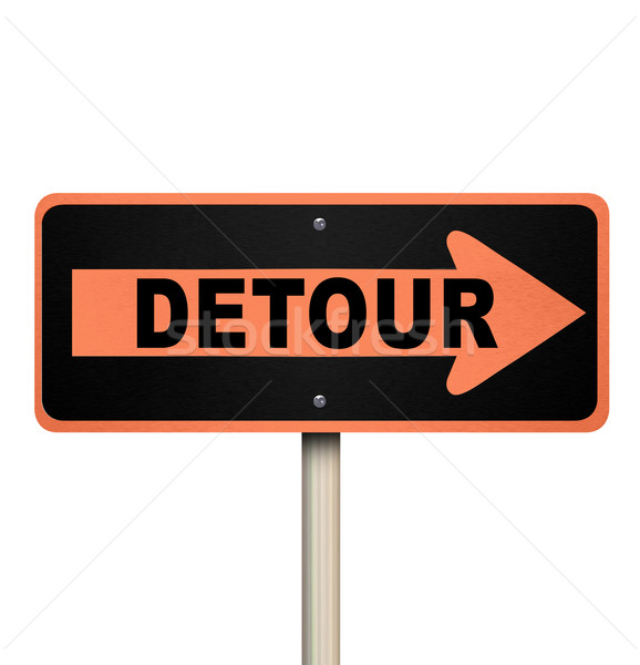 Detour Road Sign - Isolated Stock photo © iqoncept