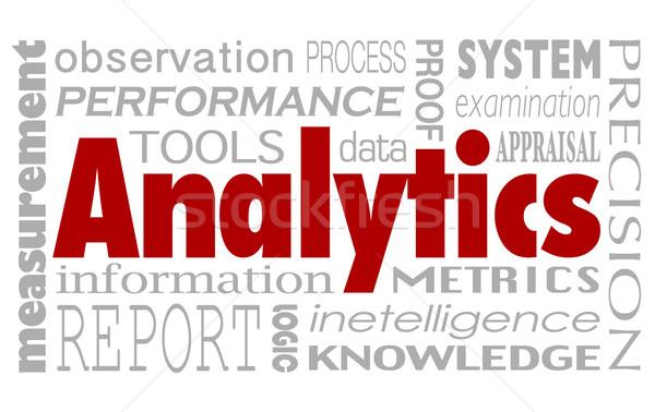 Analitica parole collage prestazioni misurazione relazione Foto d'archivio © iqoncept