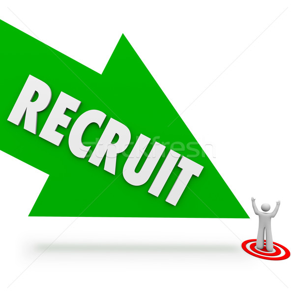 Recruit Arrow Hire Job Candidate Find Best Employee Stock photo © iqoncept
