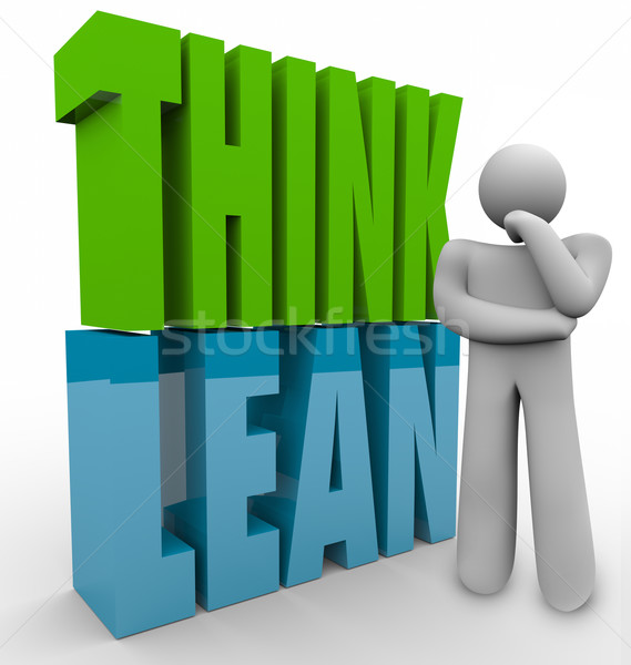 Think Lean Person Thinking Efficient Business Management Product Stock photo © iqoncept