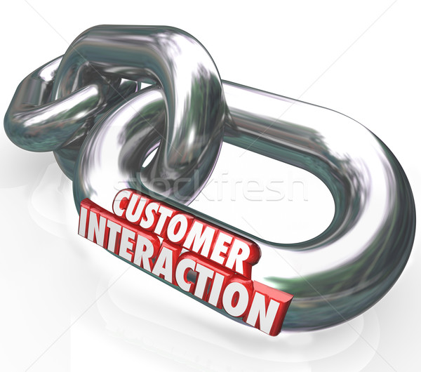 Stock photo: Customer Interaction 3d Words Chain Links Partnership Engagement