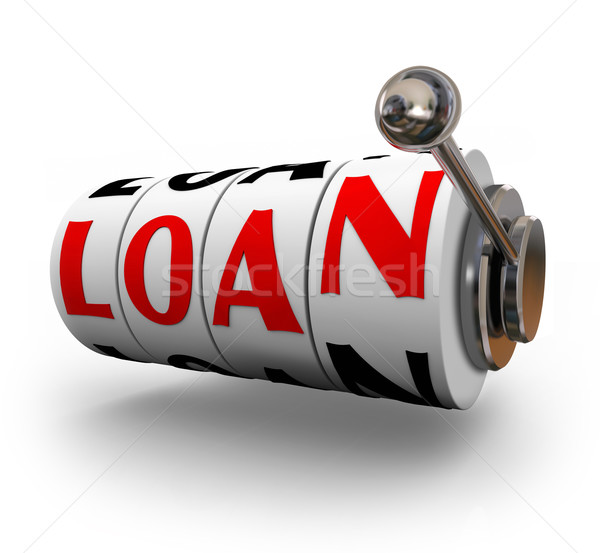 Loan Word Slot Machine Wheels Dials Apply Borrow Money Stock photo © iqoncept
