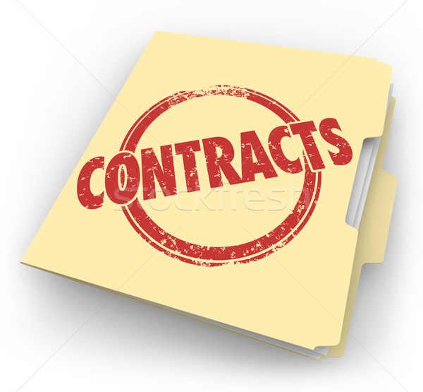 Contracts Manila File Folder Agreements Closed Sales Deals Stock photo © iqoncept