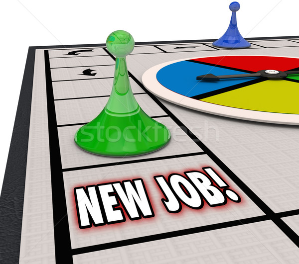 New Job Board Game Finding Landing Career Move Promotion Advanci Stock photo © iqoncept