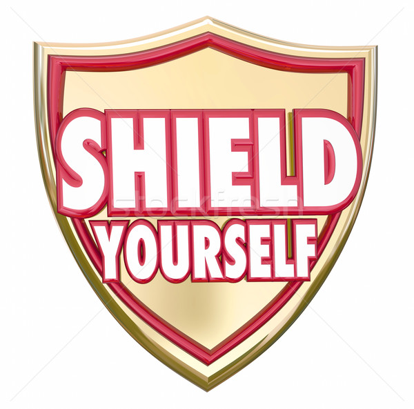 Shield Yourself Precaution Prevention Safety Security Stock photo © iqoncept
