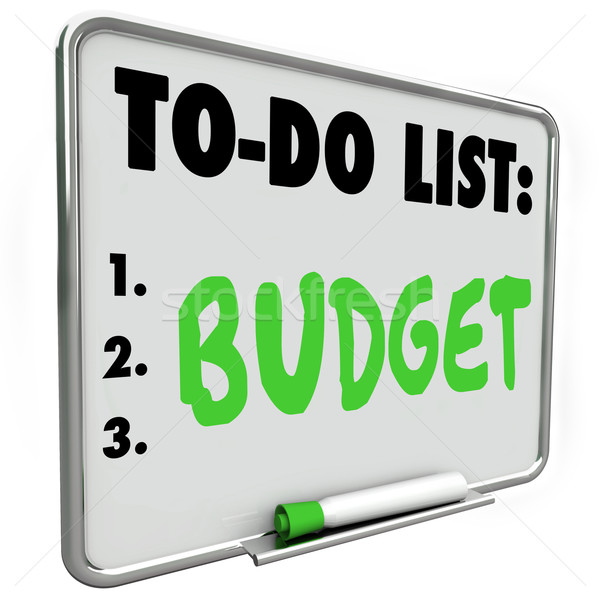 Budget To Do List Accounting Pay Bills Plan Expenses Save Money Stock photo © iqoncept