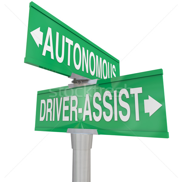 Autonomous Driving Vs Driver Assist Features Technologies Car Ro Stock photo © iqoncept
