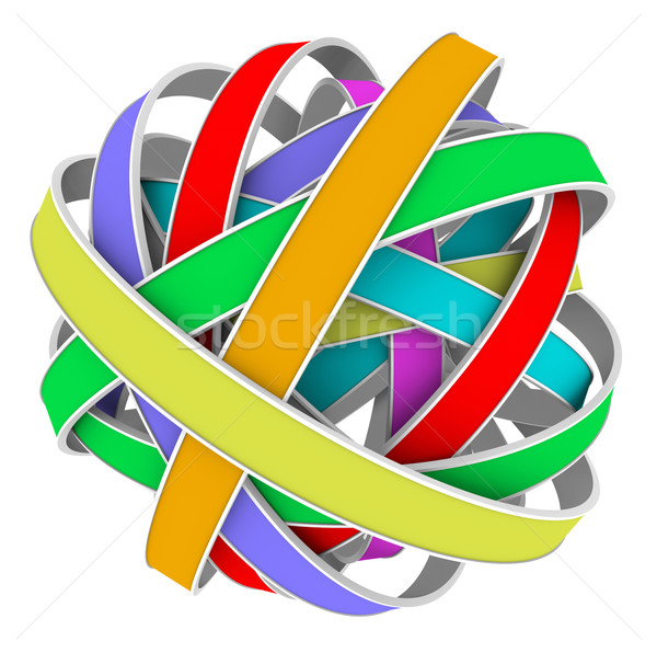 Ball Sphere Color Strips Messy Bundle Stock photo © iqoncept