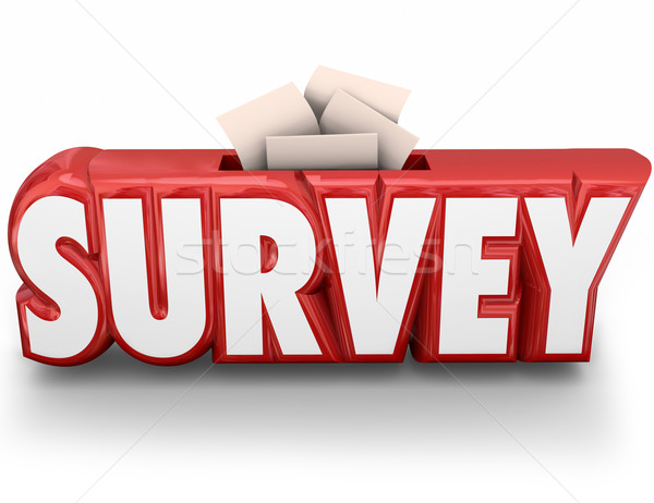 Survey 3d Word Answer Submission Response Feedback Stock photo © iqoncept