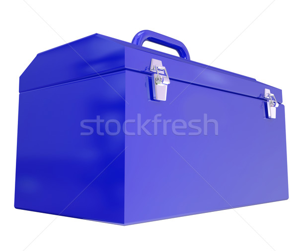 Blue Metal Closed Toolbox Build Construction Project Stock photo © iqoncept
