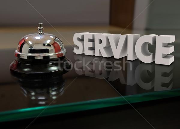 Szolgáltatás harang szívesség támogatás vásárló elöl Stock fotó © iqoncept