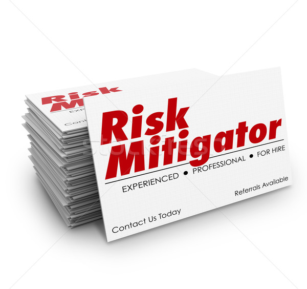 Risk Mitigator Business Cards Avoid Liability Danger Problems Stock photo © iqoncept
