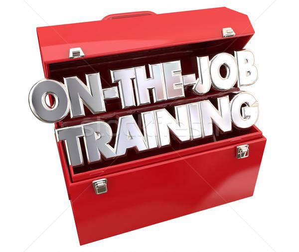 Emploi formation outils boîte à outils apprentissage carrière Photo stock © iqoncept